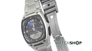 men s casio alarm chronograph watch aw 81d 2aves