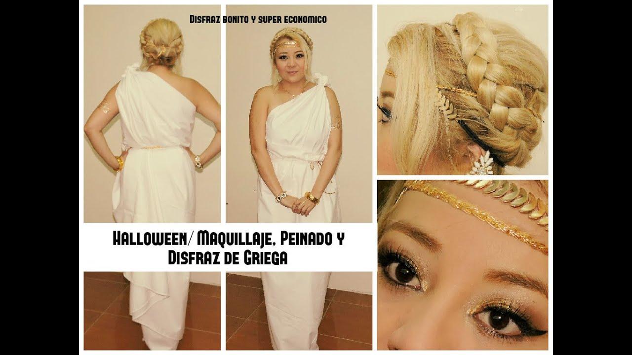 maquillaje disfraz griega
