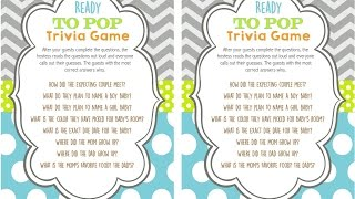 Ready To Pop Baby Shower Trivia Game