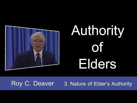 3. Nature of Elders' Authority | Authority of Elders