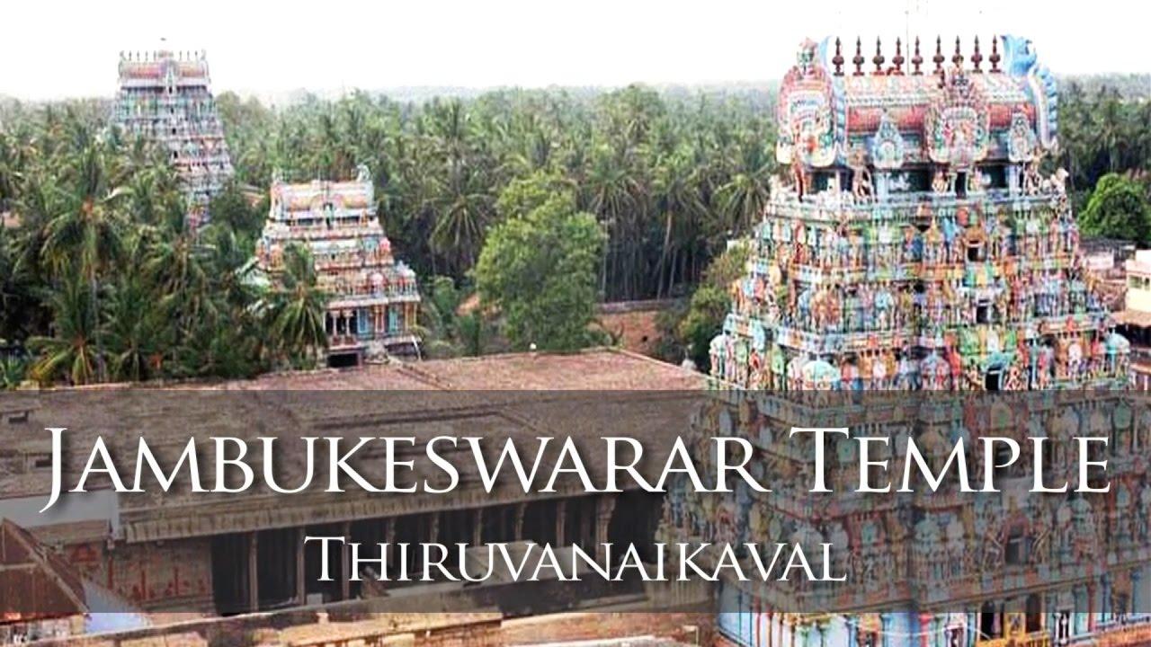 Jambukeswarar Temple - Thiruvanaikaval Thiruchirapalli - YouTube