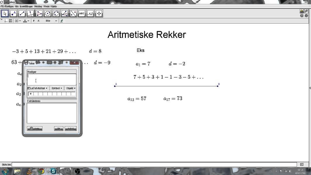 R2- Aritmetiske Rekker