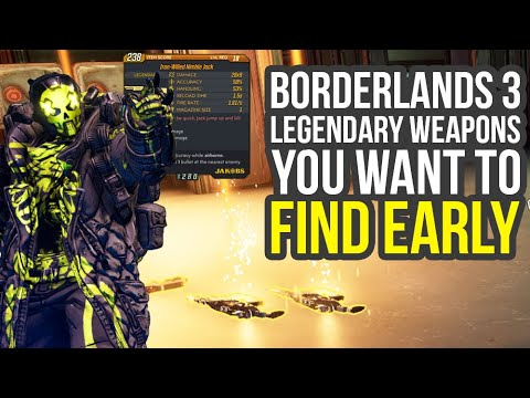 Borderlands 3 Legendary Weapons You Want To Find Early (Borderlands 3 Early Legendaries)