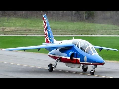 Patrouille de France Dornier Alpha Jets (AJET) arriving in Gatineau (YND/CYND)
