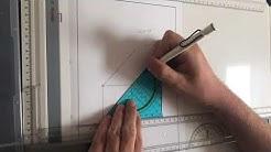 Technisches Zeichnen - Frontal-dimetrische Projektion / Kavalierperspektive / Kabinettperspektive