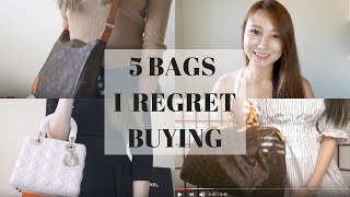 5 BAGS I REGRET BUYING | HERMES BIRKIN LV POCHETTE METIS LADY DIOR | Cherry Tung