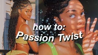 How To: EASY Passion Twist Tutorial on Natural Hair | Step by Step | Beginner Friendly | Bri Hall