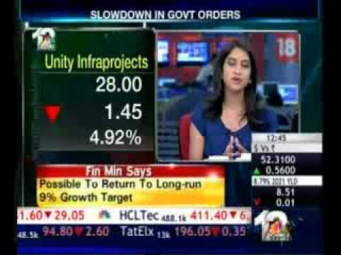 UNITY INFRAPROJECTS LIMITED ON ORDERS INFLOW & COMPANY's OUTLOOK - CNBC TV 18 09/12/11