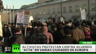 Un 'sábado de ira' contra el ACTA en Europa