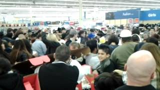 Black Friday video game section at Walmart. Craziness