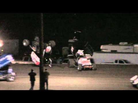 Tony Stewart ASCS Sprint Car Flip SNMS 11/13/10