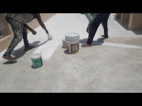 how to do terrace waterproofing / asian paint smart care damp proof product / banty betul🙏