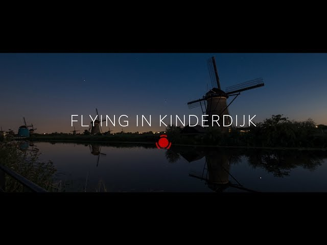Flying in Kinderdijk