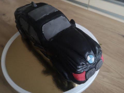 recette-de-base-pour-gâteau-à-décorer,-cake-design-voiture-bmw-3d,-anniversaire,-pièces-montée