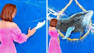 Incredible Wall Decoration || Try To Draw Your Own Masterpiece at Home