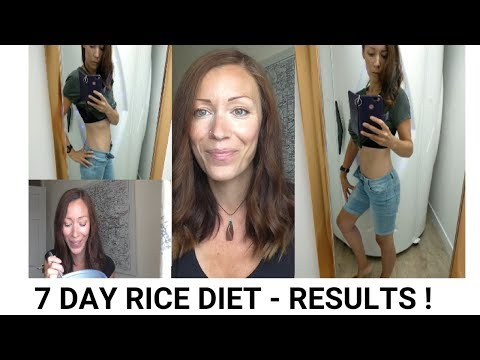 7 DAY RICE DIET  - END OF WEEK 1 - RESULTS AND UPDATE! thumbnail