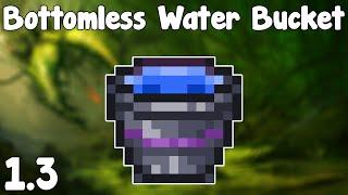 Terraria 1.3 - Bottomless Water Bucket , FLOOD THE LANDS! - Terraria 1.3 Useful New Bucket!