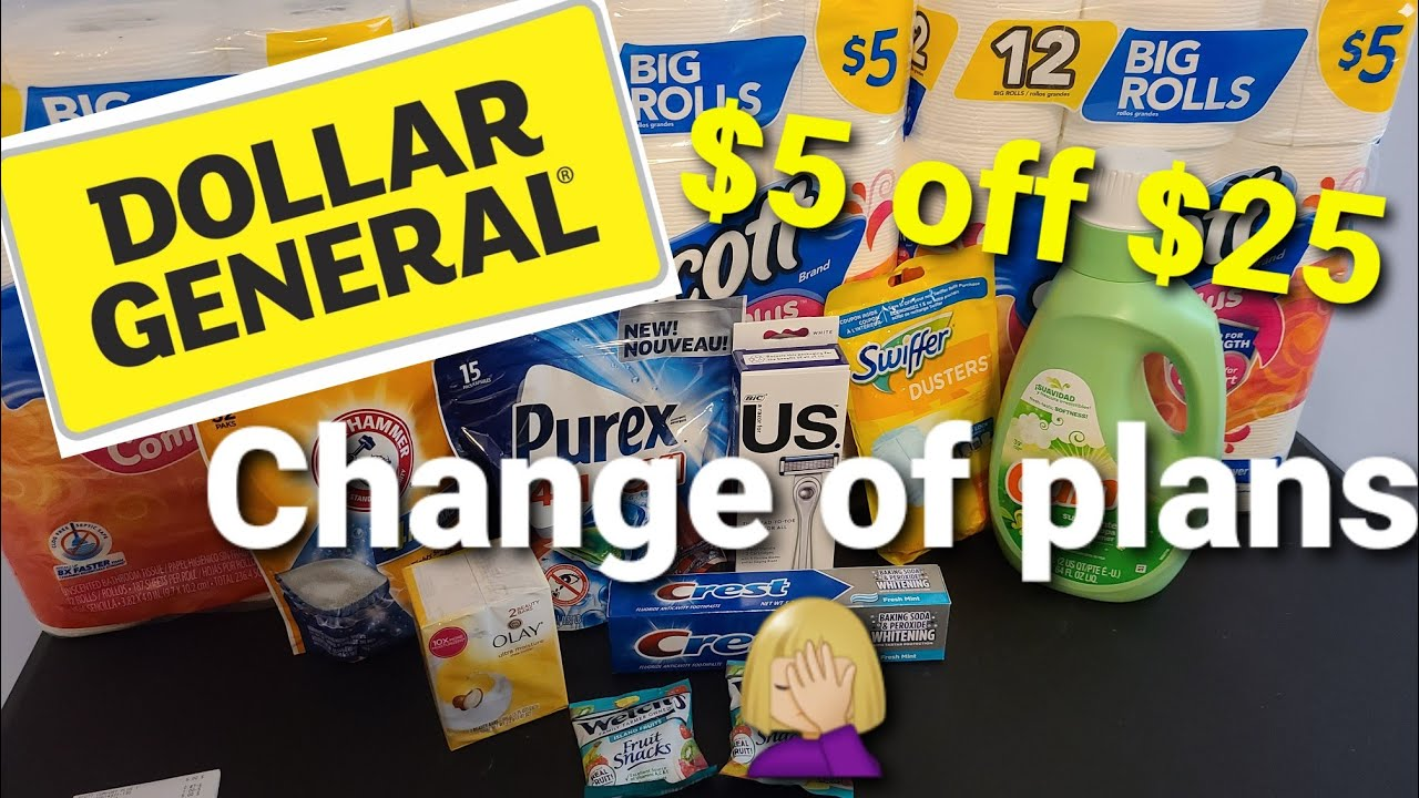 Dollar General 5 Off 25 Deal Freebies Making Adjustments All Digital Coupons Youtube