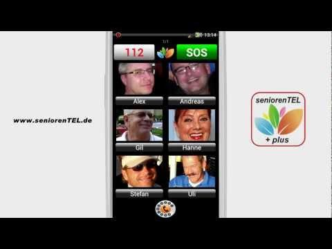 Seniorenhandy von seniorenTEL.de - Anruffunktion der App seniorenTEL+
