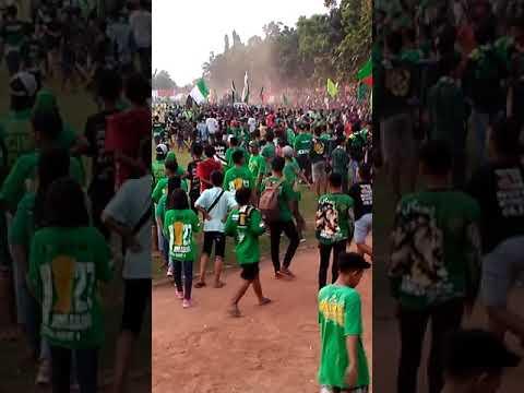 Detik-detik penyusup Aremania di kroyok Bonek di Jombang. PSId vs Persebaya . 12-05-2018