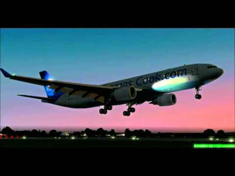 (HD) FS2004 TextBook A330 Landing?? - Bristol EGGD - 22/01/2012