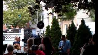 Kathryn Erbe filming LO:SVU episode Acceptable Loss in LIC 9-7-2012