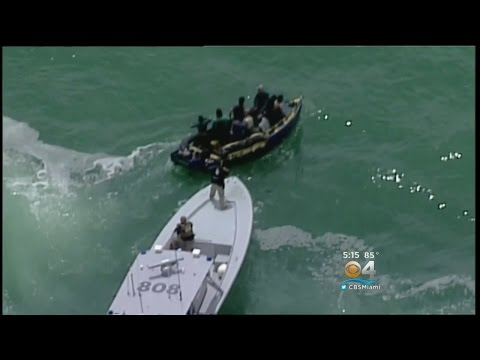 Cuban Migrants Stopped By Coast Guard Off Key Biscayne