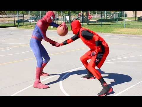 Spiderman vs Deadpool Basketball …SuperHero Basketball