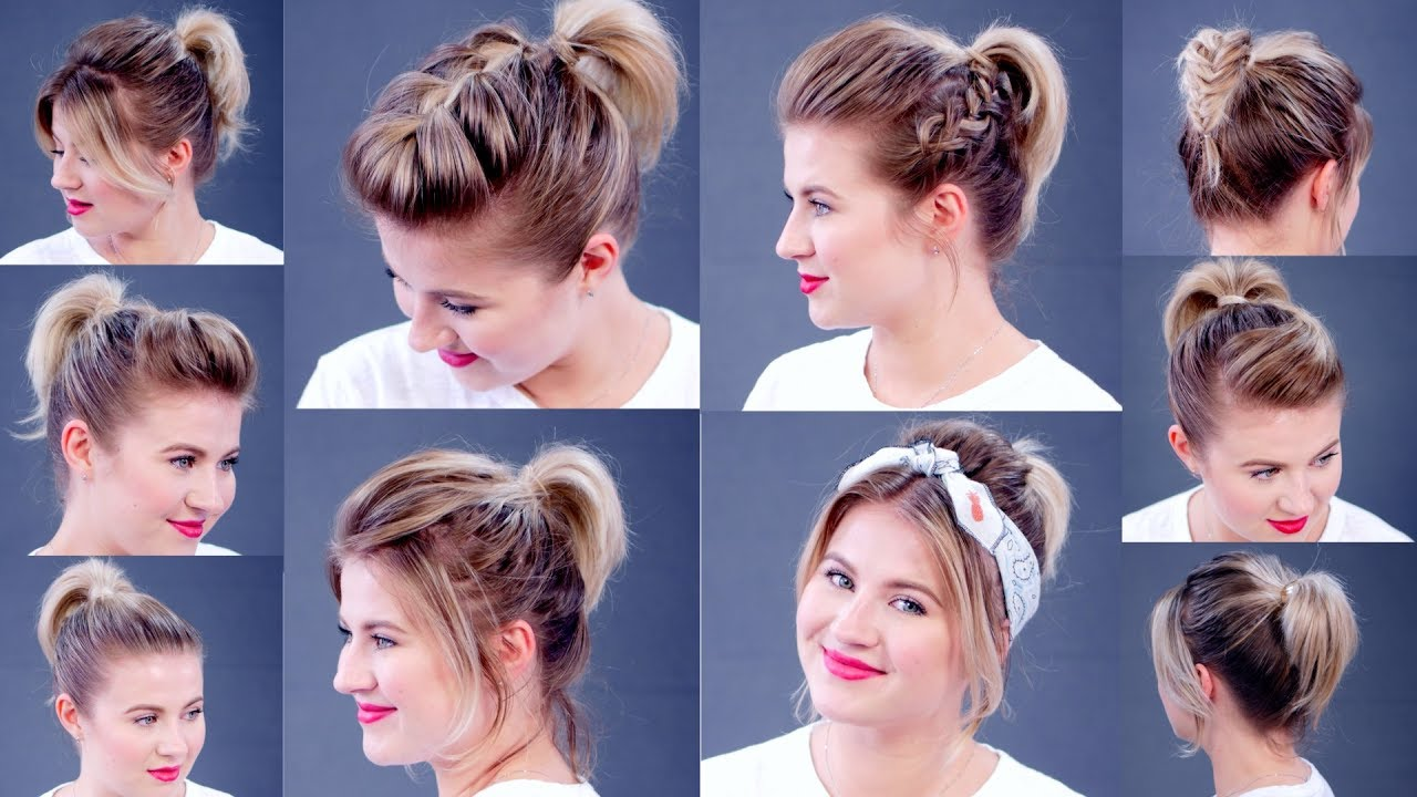 High Ponytail 10 Different Ways