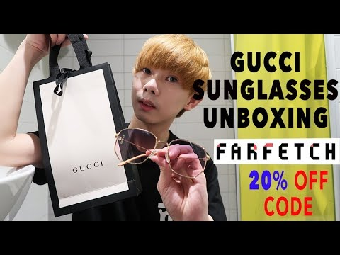 82287f1e291 Gucci Sunglasses Unboxing Gang For Women + Farfetch 20% Discount Trick