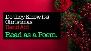 Do They Know It's Christmas - Band Aid (Poem)