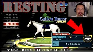 [PS2]Gallop Racer 2006 - Resting horses