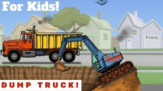 Dump Truck Video For Kids l Lots Of Trucks!