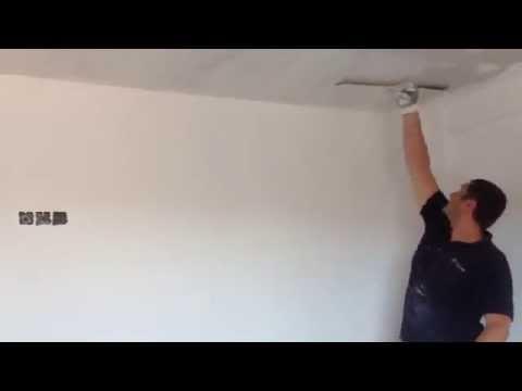 C mo empastar techo de pladur youtube - Como colocar pladur en techo ...