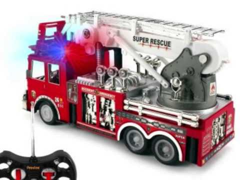 camion prextex jouet de pompiers t l guid avec lumi res et sirene youtube. Black Bedroom Furniture Sets. Home Design Ideas