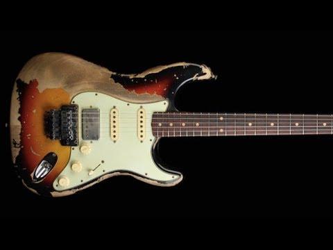 A Minor Blues Shuffle   Guitar Backing Jam Track