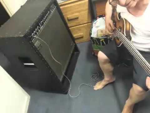 bouzouki man playing bass guitar on his roland studio bass amp youtube. Black Bedroom Furniture Sets. Home Design Ideas
