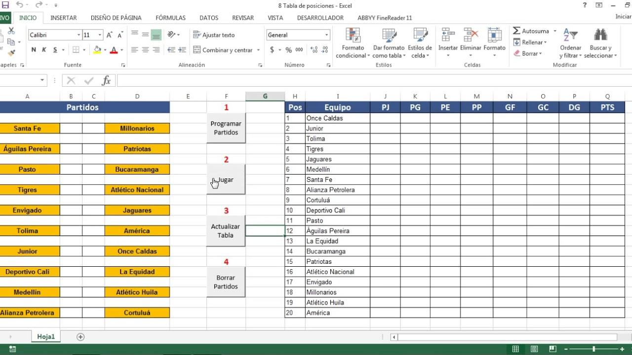 Programa para hacer clasificaciones deportivas