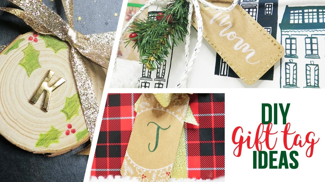 Diy Christmas Holiday Gift Tag Ideas Youtube
