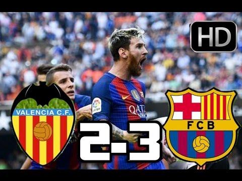 Valencia 2-3 Barcelona| RESUMEN Y GOLES HD| 22-10-2016