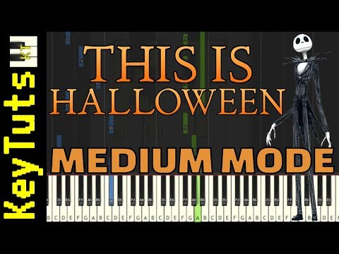 Learn to Play This Is Halloween from Nightmare Before Christmas - Medium Mode