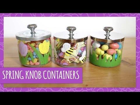 DIY Repurposed Knob Lid Containers - HGTV Handmade