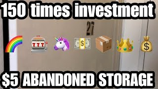 150 times investment $5 Abandoned Storage mystery treasure unboxing