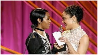Happy Pride! Tessa Thompson Confirms She's Been Piloting Janelle Monae's Pynk Parts Into Euphoria?