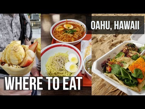 Food Tour of Oahu, Hawaii - Where to Eat - Samsung Galaxy S8 4K Video