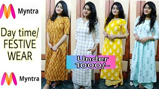 Myntra kurti haul 2018 | Myntra FESTIVE KURTI SET haul | Try On haul | Affordable | Ria Das