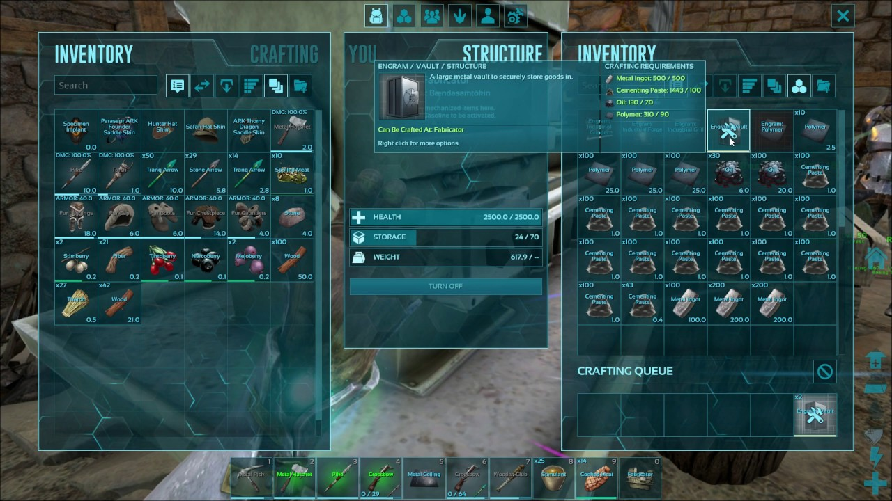 How to make a vault ark survival evolved youtube how to make a vault ark survival evolved malvernweather Choice Image