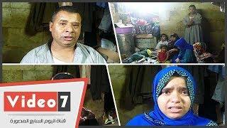 تعيش أسرة مكونة من 7 أفراد مأساة حقيقة داخل غرفة فى مسجد قديم بمنطقة السيدة زينب