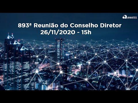 893ª Reunião do Conselho Diretor, de 26/11/2020