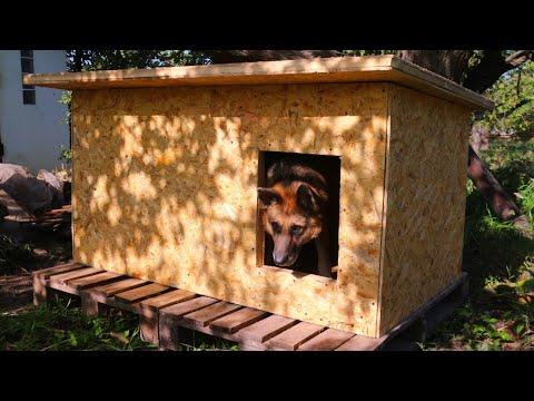 Сделать собачью будку для овчарки своими руками